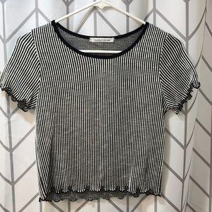Black and white striped midi t shirt